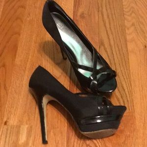 Bakers Shoes - Black platform heels